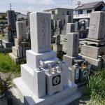 姫路市網干区の地域墓地で、古い墓石部分を利用したお墓の建て直し