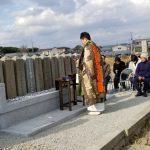 姫路市網干区宮内の地域墓地で、軍人墓をまとめて整備しました