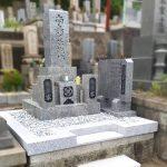 山口県岩国市より、山口県産徳山石のお墓を、棹石を作り直して移設・改葬。姫路市白浜町自治会墓地にて